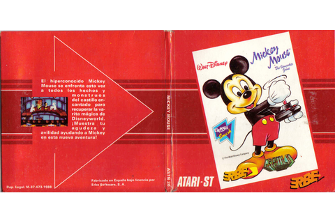 Atari ST Mickey Mouse - The Computer Game : scans, dump ...
