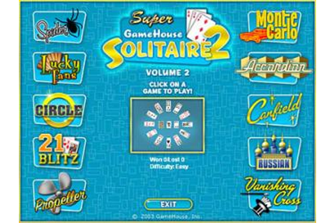 Super Solitaire 2 Volume2 Gamehouse Solitaire card games ...