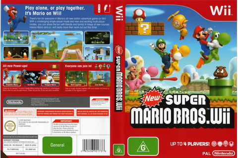 Games Covers: New Super Mario Bros - Wii
