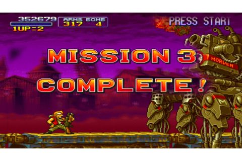 Metal Slug X - MISSION 3 COMPLETE ( 3/6 ) - YouTube