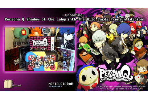 Unboxing-Persona Q: Shadow of the Labyrinth The Wild Cards ...