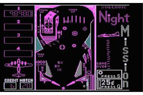 Night Mission Pinball Download (1982 Arcade action Game)