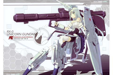 Gundam, Anime Girls, Mobile Suit Gundam Unicorn Wallpapers ...