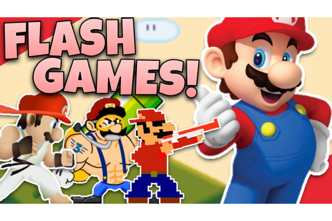 FUNNY MARIO FLASH GAMES! - Diamondbolt - YouTube