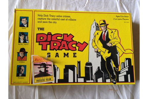 The Dick Tracy board Game by University Games 1990 by ...