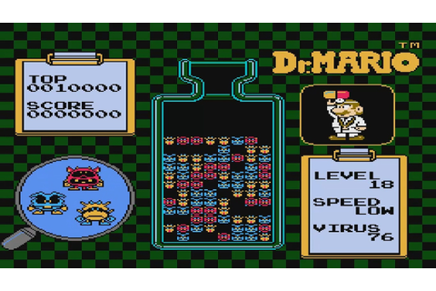 Dr. Mario Virus Level 16-18 Nintendo NES Video Game - YouTube