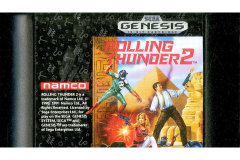 Classic Game Room - ROLLING THUNDER 2 review for Sega ...