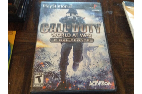 PlayStation 2 game call of duty world at war final front ...