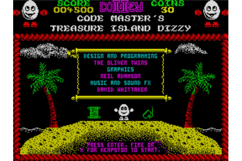Dizzy II - Treasure Island Dizzy (1988)(Codemasters) ROM