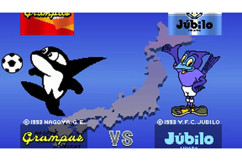 J-League Soccer V-Shoot (Namco 1994) Attract Mode 60fps ...