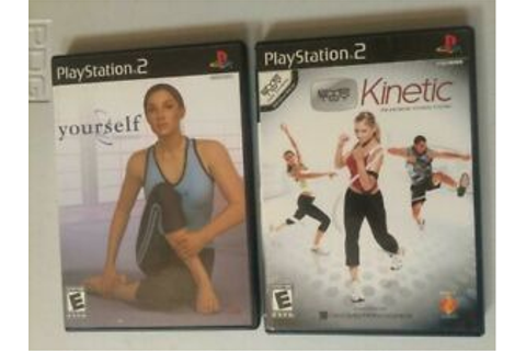 2 LOT Sony PlayStation 2, Yourself Fitness w/ Memory Card ...