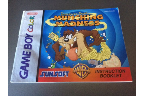 Tasmanian Devil Munching Madness Manual Nintendo Gameboy ...
