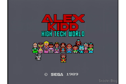 Alex Kidd: High Tech World - Master System - Tec Toy tips ...