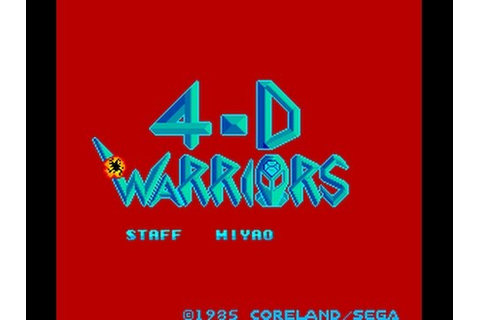 4-D Warriors (Arcade) Hi-Score Challenge - YouTube