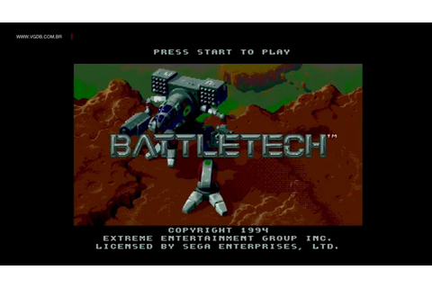 Battletech: A Game of Armored Combat - Sega Genesis / Mega ...