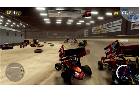 Tony Stewart's Sprint Car Racing PS4 Gameplay - YouTube