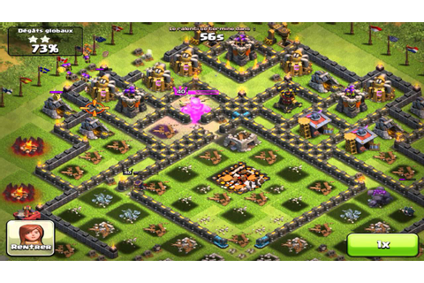 Clash of clans - League champion attack 100% - YouTube