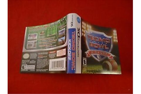 Tecmo Bowl Kickoff Nintendo DS Cover Art Insert ONLY (no ...