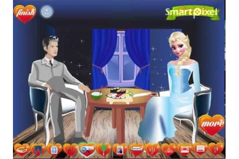 Disney's Frozen Elsa's Romantic Dinner Date Game - YouTube