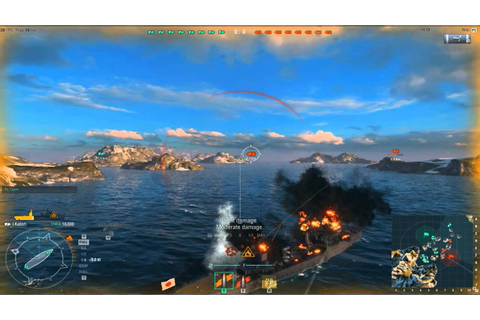 World Of Warships Gameplay 2015 - YouTube