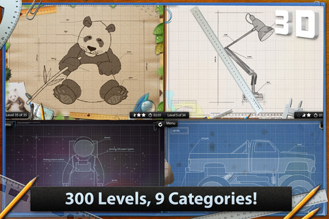 Blueprint 3D – Amazing 3D motion puzzle game! iPhone App ...