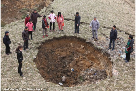 That sinking feeling: Villagers shocked as vast spaces of ...