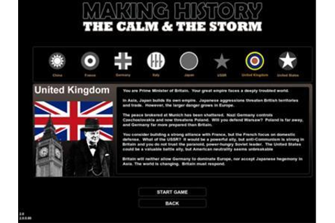 Demos: PC: Making History: the Calm & the Storm Demo ...