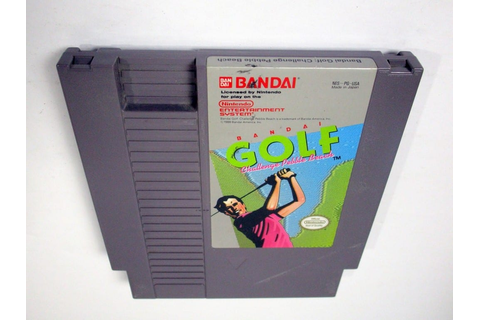 Bandai Golf Challenge Pebble Beach game for NES (Loose ...