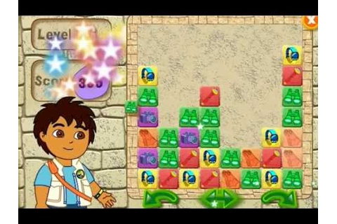 Go, Diego Go! Puzzle Pyramid Children's Game! Gameplay ...