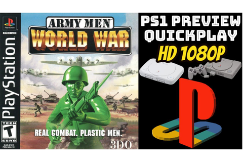 Army Men: Operation Meltdown/World War (PS1) GAMEPLAY ...