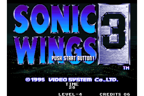 Sonic Wings Special 3 (1995) by Video Systems Arcade game