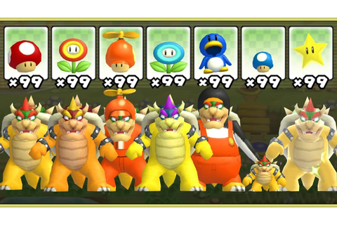 New Super Mario Bros. Wii - All Bowser Power-Ups - YouTube