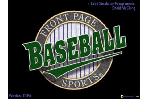 Front Page Sports Baseball Download Free Full Game | Speed-New