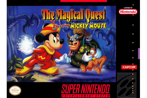 Magical Quest Starring Mickey Mouse SNES Super Nintendo