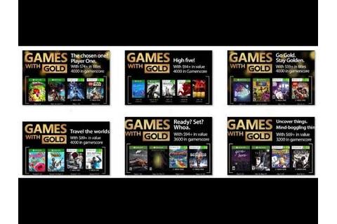 All free Games with Gold Xbox One & 360 - YouTube