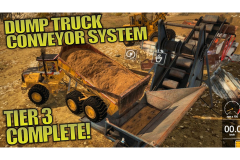 DUMP TRUCK CONVEYOR SYSTEM! | Gold Rush: The Game Let's ...