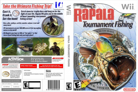 Rapala Tournament Fishing - Nintendo Wii Game Covers ...