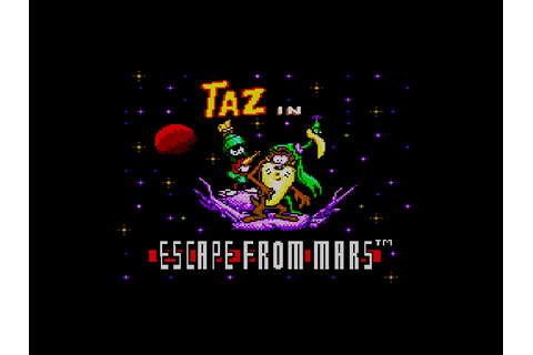 Taz in Escape From Mars Screenshots | GameFabrique