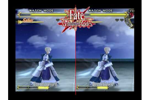 Fate Stay Night Unlimited Codes Side by Side Comparison ...