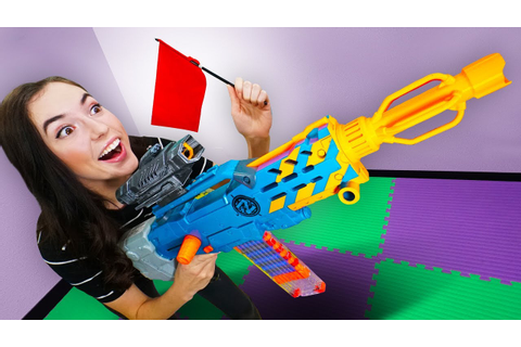 NERF Board Game | Capture the Flag Challenge! - YouTube