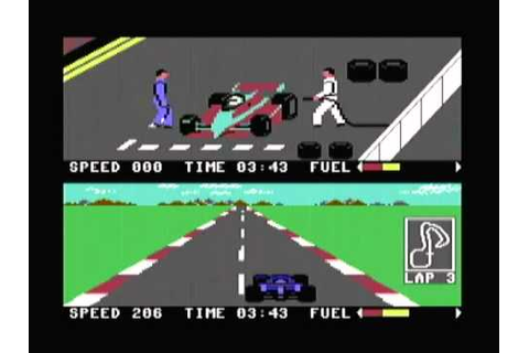 Pitstop 2 on a Commodore 64 - YouTube