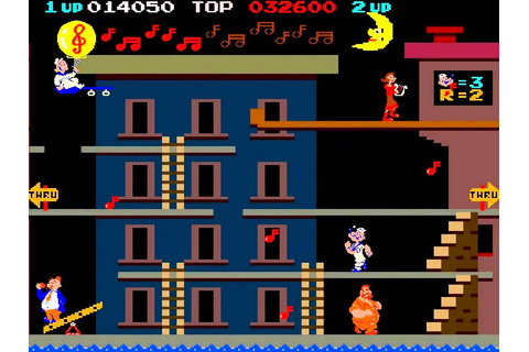 Arcade Popeye - 1982 by Nintendo - YouTube