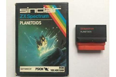 Sinclair ZX Spectrum 16/48K ROM Cartridge Planetoids Game ...