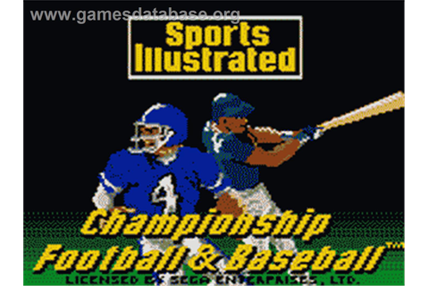 Sports Illustrated Championship Football & Baseball - Sega ...