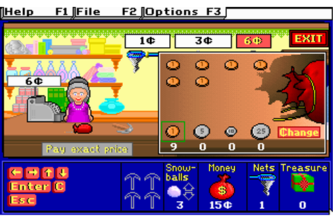 Treasure MathStorm! Screenshots for DOS - MobyGames