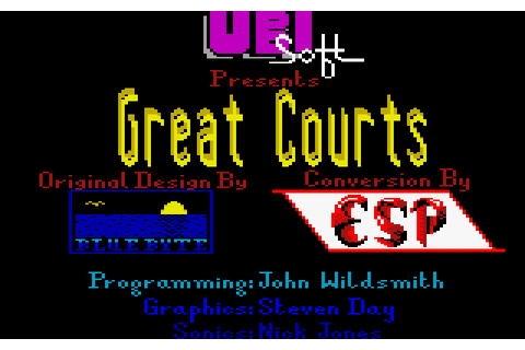 Great Courts (1989) by Blue Byte / ESP Software Amstrad ...
