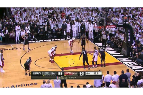 NBA Finals 2013: Game 7, Final minute - YouTube