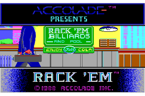 Rack 'em (1988) by Accolade MS-DOS game