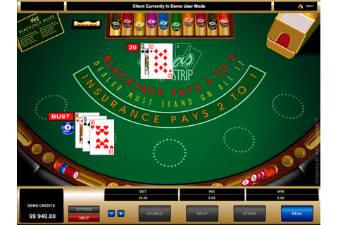 Play Vegas Strip Blackjack by Microgaming | FREE BlackJack ...