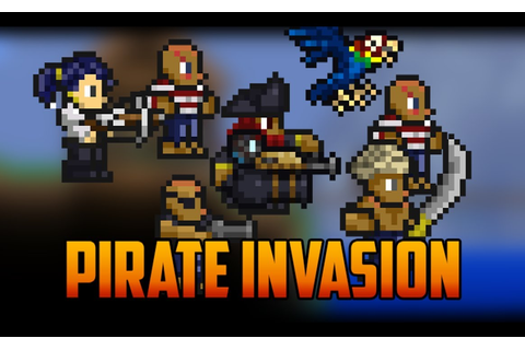 Terraria - Pirate Invasion and Pirate NPC - YouTube